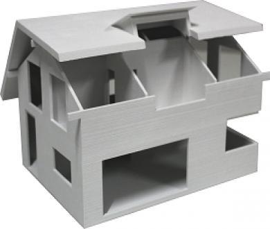 Hausmodell aus dem 3D-Drucker