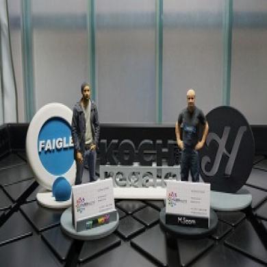 Visitenkartenhalter mit 3D-Portraitfigur